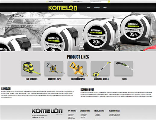 Custom Web Application Design - Komelon USA